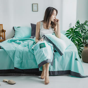 40s贡棉13372撞色宽边系列单床单