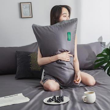 40s贡棉13372撞色宽边系列单枕套