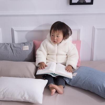 全棉色织儿童枕套/枕芯一只装 30cmX50cm 40cmX60cm  48cmX74cm 40cmX60cm 低调灰