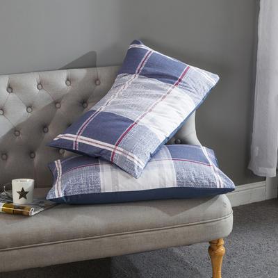 全棉13372英格兰格子枕套 48cmX74cm 爱丁堡