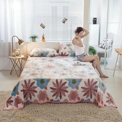 雪花绒单床单毛毯 120cmx200cm 百花争艳