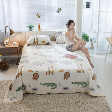 雪花绒单床单毛毯