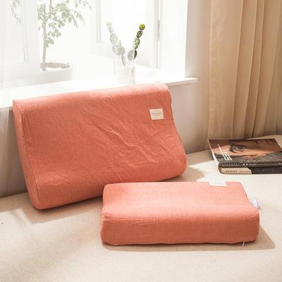 全棉色织水洗棉乳胶枕套 30cmX50cm 乳胶枕套巴西桔