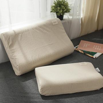 全棉色织水洗棉乳胶枕套