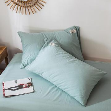 全棉染色水洗棉枕套