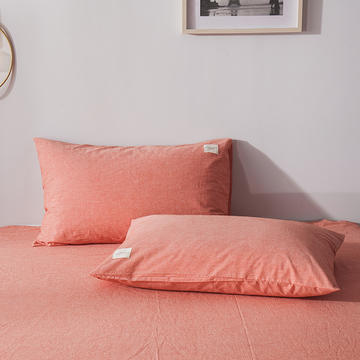 色织儿童学生枕套一对装