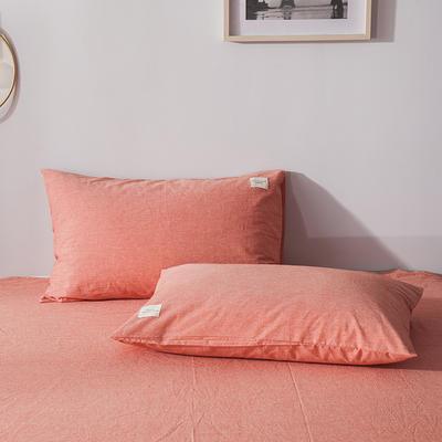 色织儿童学生枕套一对装 40cmX60cm 巴西桔