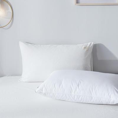 2020新款全棉色织系列-单枕套 48cmX74cm/对 白白白