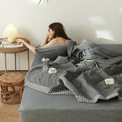 2020新款全棉色织水洗棉【单夏被】 200X230cm单夏被 低调灰