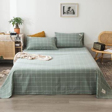2020新款全棉色织水洗棉-单床单