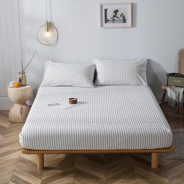 2020新款全棉色织水洗棉-单床笠