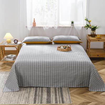 2020新款双拼染色水洗棉-单品 (床单) 120cmx230cm 布里斯-灰