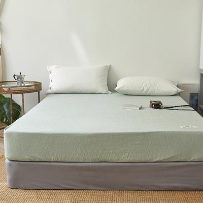 2020新款自由棉麻风系列-单床笠 120*200+27cm 薄荷绿