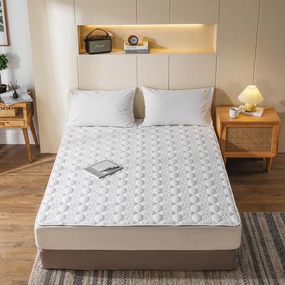 2020新款全棉色织水洗夹-棉软床垫 90×200cm 白白白
