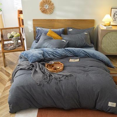 2020新款棉加绒贴布绣系列四件套 被套1.8*2.2标准床单四件套 低调