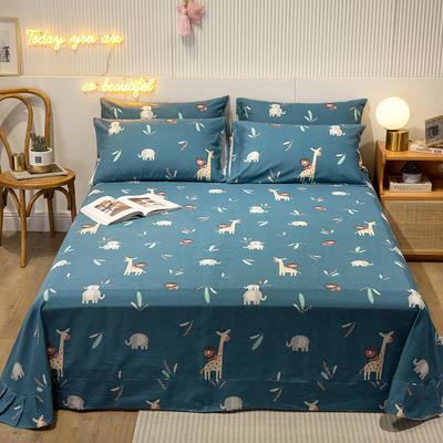 2020新款全棉印花磨毛系列-单床单 160*230cm 动物乐园