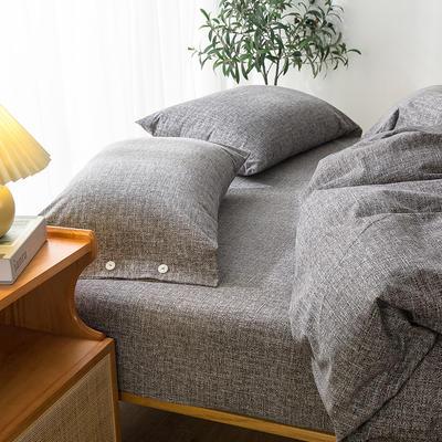 2020新款全棉良品磨毛方案2系列-单枕套 纽扣款48x74cm-1对装 比尔黑
