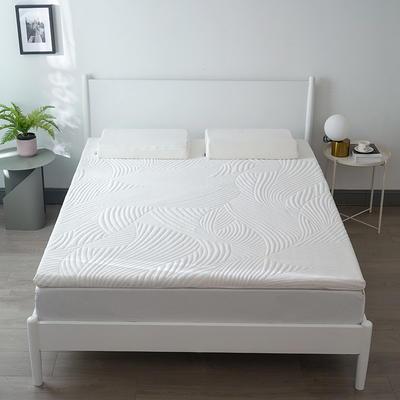 2020新款3D波浪零压慢回弹记忆棉系列床垫 90*200cm-5.5cm 白