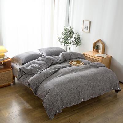 2020新款全棉良品磨毛方案2系列-单床笠 150cmx200cm+25 比尔黑