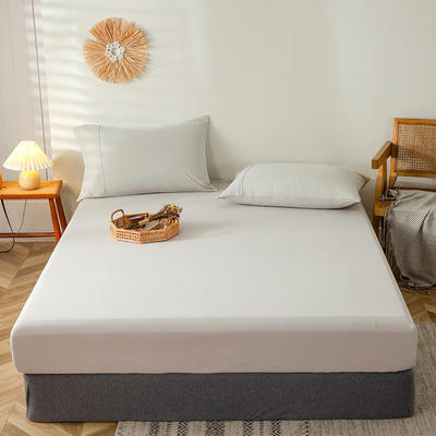 2020新款全棉A类针织棉系列-单床笠 150*200+23cm 白银灰