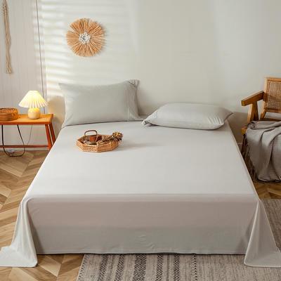 2020新款全棉A类针织棉系列-单床单 200*250cm 白银灰