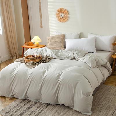 2020新款全棉A类针织棉系列-单被套 200*230cm 白银灰