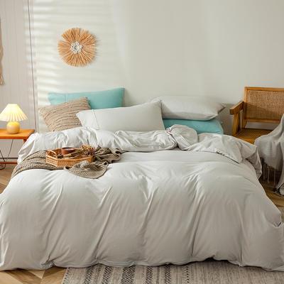 2020新款全棉A类针织棉系列-四件套 1.5m床单款四件套 白银灰