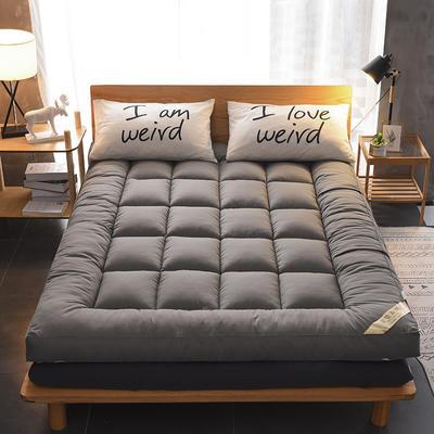 2019新款立体磨毛羽丝绒床垫 纯色软垫被 90*200cm 灰色