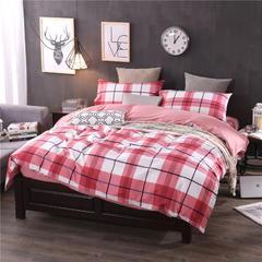 全棉13372精梳棉良品风简约系列 1.2m(4英尺)床 都市小调-红