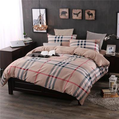 全棉13372精梳棉良品风简约系列 1.2m(4英尺)床 都市一派-黄