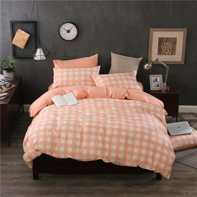 全棉13372精梳棉良品风简约系列 1.2m(4英尺)床 浮华涌动-红