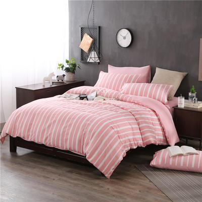 全棉13372精梳棉良品风简约系列 1.2m(4英尺)床 信条主义-红