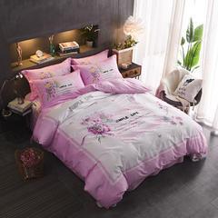 13372匹马棉全棉定位大版花四件套 1.5m(5英尺)床 简单生活