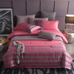 60长绒棉A版色织提花B版全棉四件套 1.5m(5英尺)床 艾尔