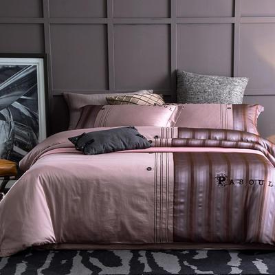2018新品蕾丝镂空提花四件套B版13372全棉四件套 1.8m(6英尺)床 相约巴黎-魅紫
