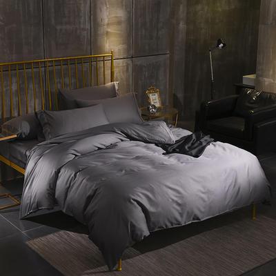 60支长绒棉四件套纯棉素色四件套 1.5m(5英尺)床 奥丁灰