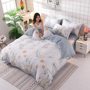 13374蕾丝花边小碎花纯棉四件套 1.5m(5英尺)床 半夏