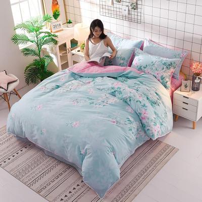 13374蕾丝花边小碎花纯棉四件套 1.8m(6英尺)床 含香