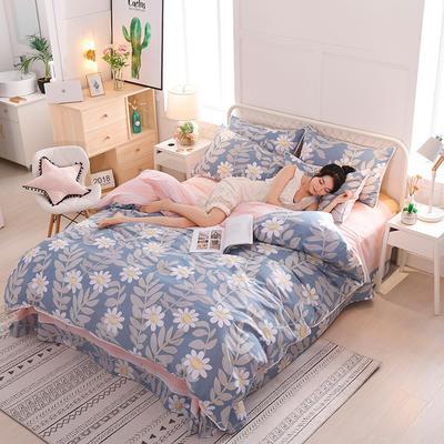 13374蕾丝花边小碎花纯棉四件套 1.5m(5英尺)床 浪漫满屋
