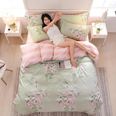 13374蕾丝花边小碎花纯棉四件套 1.8m(6英尺)床 绿野仙踪
