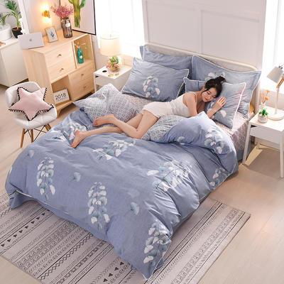 13374蕾丝花边小碎花纯棉四件套 1.8m(6英尺)床 幽月流光