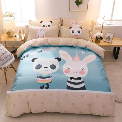 【2019新品】全棉四件套新中式大版花纯棉四件套双人床套件 1.8m(6英尺)床 我们的爱