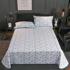 左邻右舍老粗布三件套凉席加厚三件套床单枕套(暗色系) 2.45-2.5m 170269-蓝