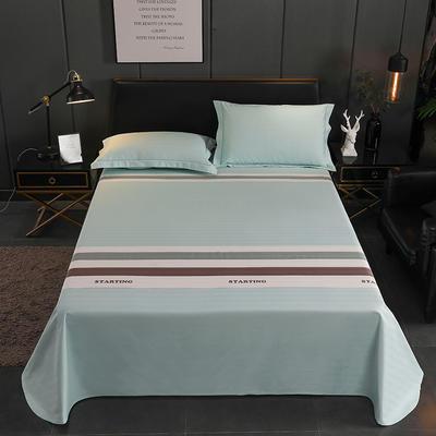 老粗布三件套凉席加厚三件套床单枕套(暗色系) 1.8m-2.3m 173018-绿