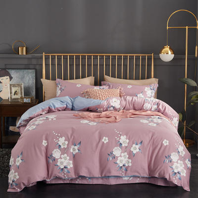 2019新款60长绒棉印花系列 1.8m(6英尺)床 花香名曲-粉(标准下架)