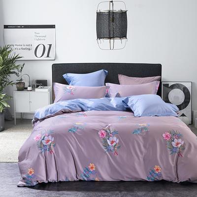 2019新款60长绒棉印花系列 1.8m(6英尺)床 罗菲-紫