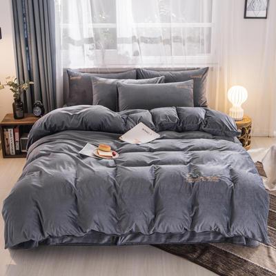 3D荷兰绒四件套 荷兰绒-银灰 1.8m(6英尺)床 荷兰绒-银灰