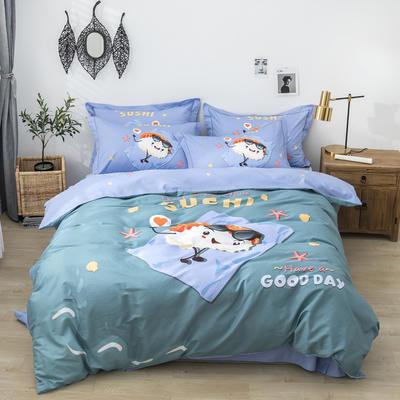 全棉匹马棉四件套 精灵宝贝 1.8m(6英尺)床 精灵宝贝