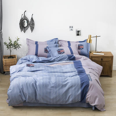 全棉匹马棉四件套 时尚风 1.8m(6英尺)床 时尚风