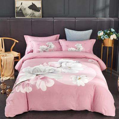 全棉匹马棉四件套 万紫千红(粉) 1.8m(6英尺)床 万紫千红(粉)